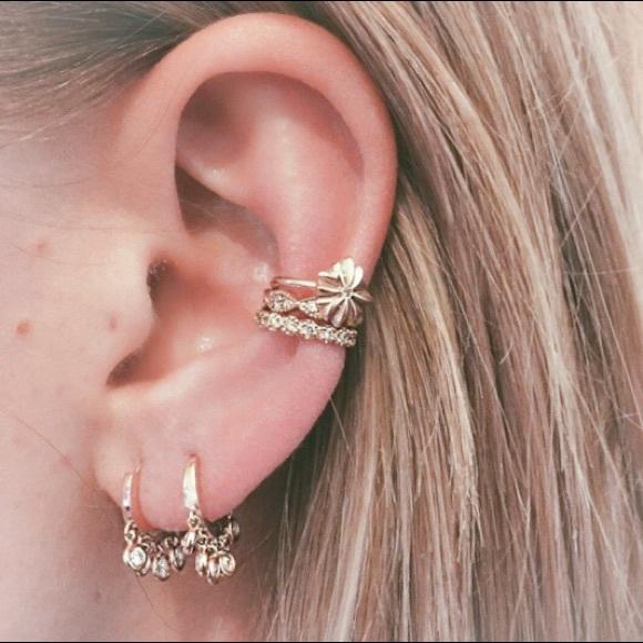 ecb59a090 Liliana Skye Jewelry | Mini Hoop Huggie Earrings Cz Hoops With Charm ...